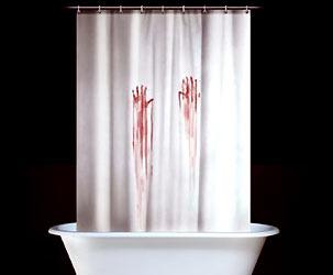 Badezimmer-Blutbad Vorhang