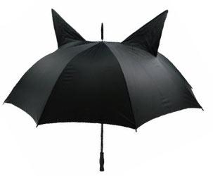 Regenschirm mit Katzenohren
