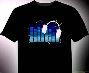LED Eualizer leucht T-Shirt
