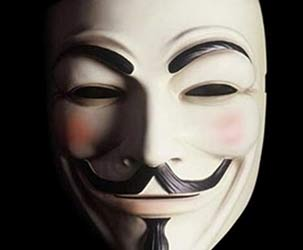 Anonymous Guy Fawkes Maske