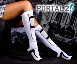 Portal 2 Stiefel Kniesocken