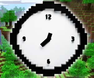 Minecraft Pixel Uhr