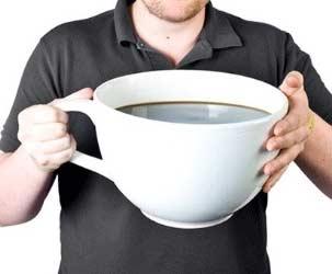 Die größte Kaffetasse der Welt
