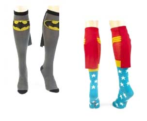Superhelden Socken mit Umhang