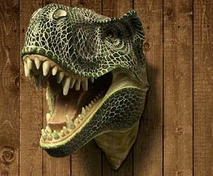 T-Rex Wandtrophäe