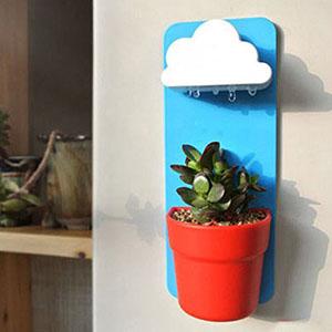 Regenwolken-Blumentopf