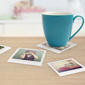 Untersetzer für Polaroidbilder
