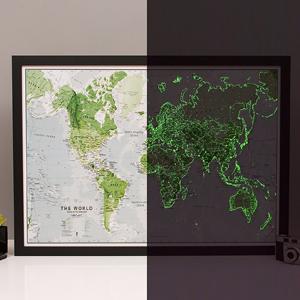 Leuchtende Weltkarte