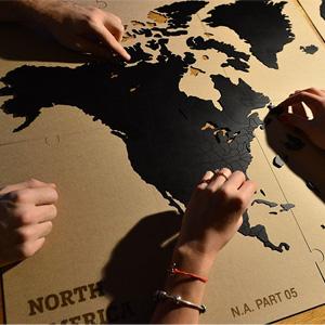 Holzpuzzle Weltkarte
