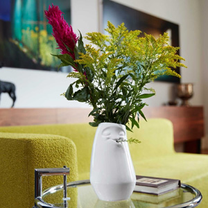 Lustige Vase